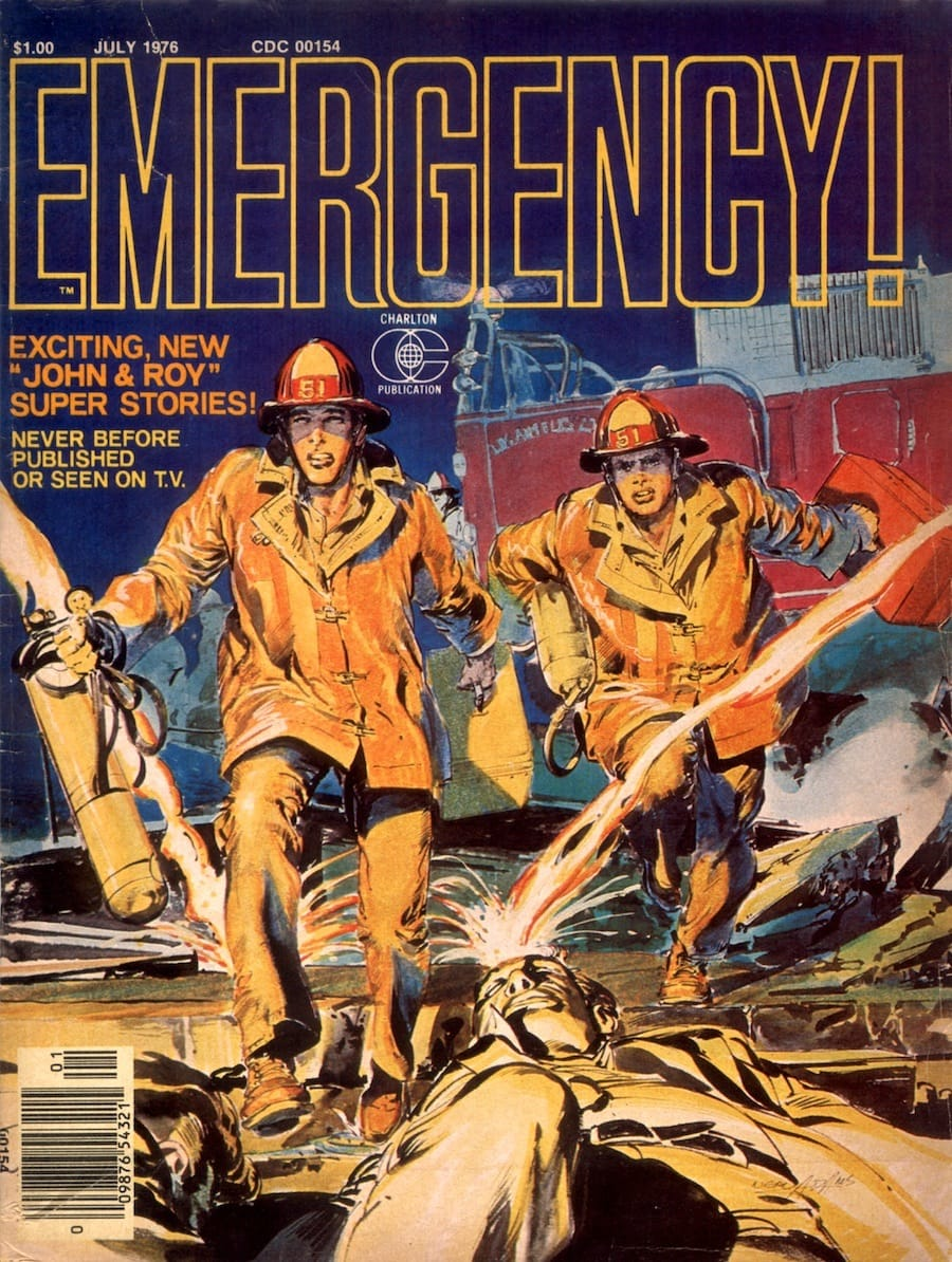 Emergency #1 comic book magazine cover by Neal Adams circa 1970s