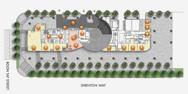 One Shenton Site Plan