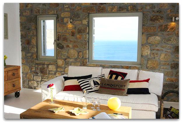 Stone holiday retreat villa in Mykonos, Greece   01artsymphony Stone holiday villa mykonos