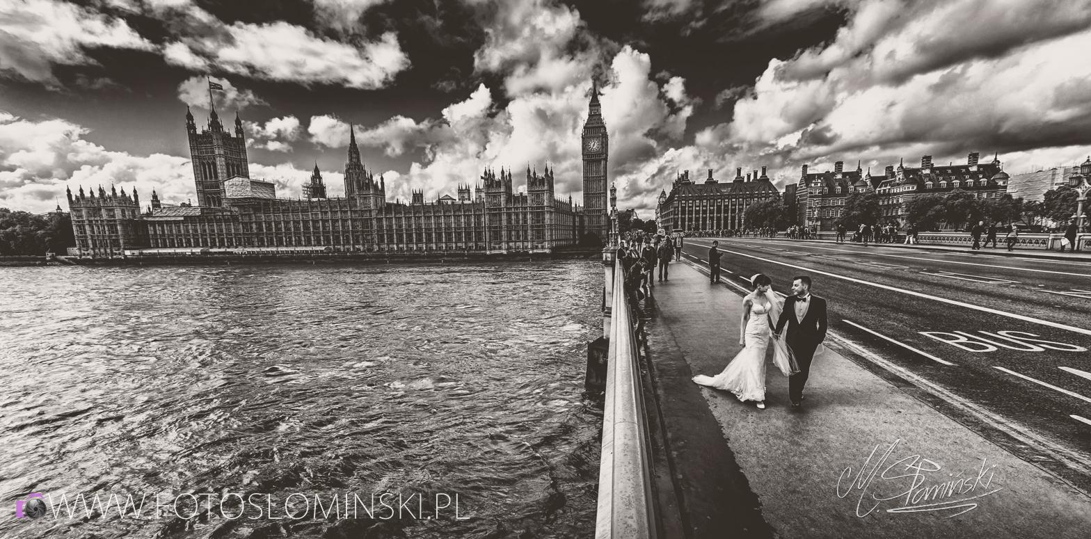 Fotografia ślubna - Sesja plenerowa w Londynie. Fotograf ślubny Londyn Słomiński.