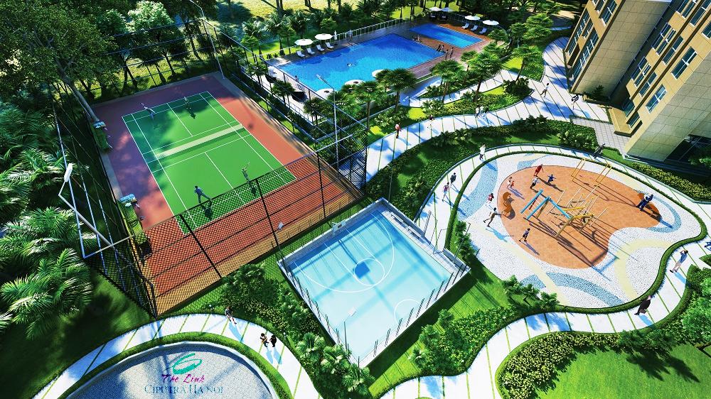 Sân Tenis The Link 345 Ciputra
