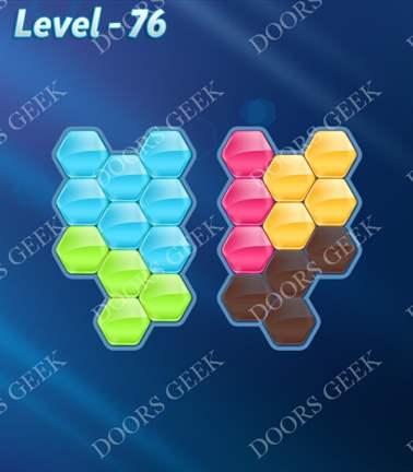 Block! Hexa Puzzle [5 Mania] Level 76 Solution, Cheats, Walkthrough for android, iphone, ipad, ipod