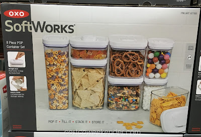 Keep food fresh with the Oxo SoftWorks 8 piece Pop Container Set