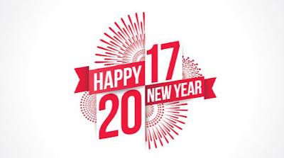 Gambar Ucapan Selamat Tahun Baru 2017 Merah Putih Sederhana Happy New Year