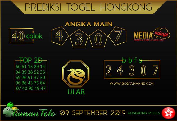 Prediksi Togel HONGKONG TAMAN TOTO 09 SEPTEMBER 2019