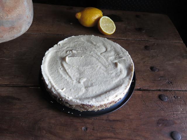 tarta crudivegana queso