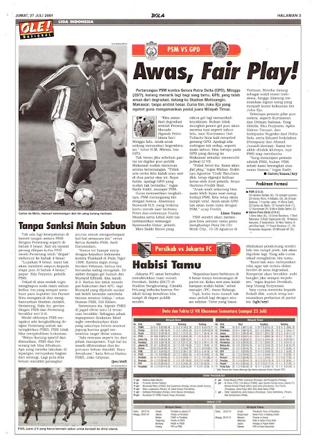 LIGA INDONESIA: PSM VS GPD AWAS, FAIR PLAY