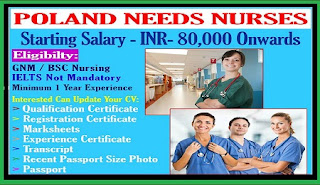 HIRING STAFF NURSES TO POLAND