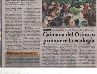 Promoviendo la Ecología a través del personaje Petra la Caimana, alegórico al Caimán del Orinoco