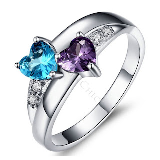 STUNNING 1 CT HEART CUT BIRTHSTONE MOTHER'S RING