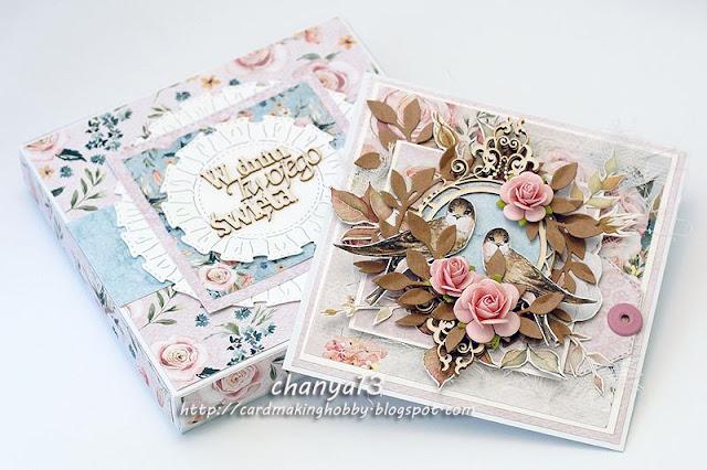 romantyczny zestaw dla pani -pełen kwiatów, ptaszków i innych ozdób
