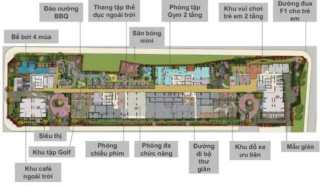 Tiện ích tầng 1 dự án Seasons Avenue