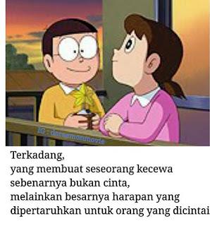 gambar kata cinta nobita dp bbm