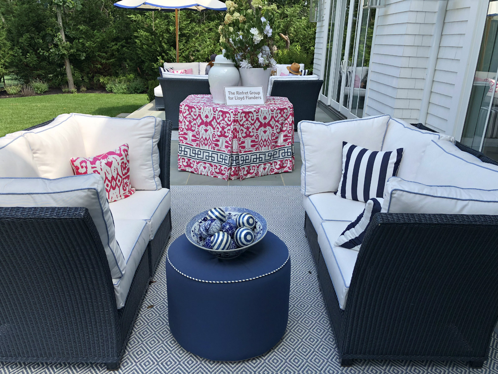 Patio at the Hampton Designer Showhouse