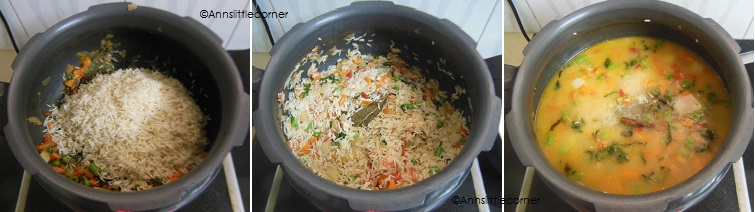 How to make Vegatable Biryani- Step 3