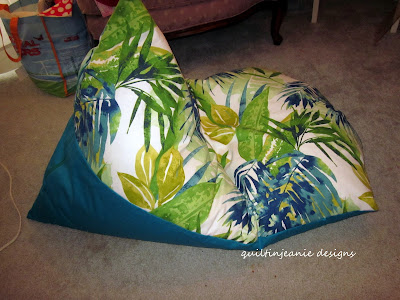 Stupendous Jeans Quilting Page Cute Summer Bean Bag Project Caraccident5 Cool Chair Designs And Ideas Caraccident5Info