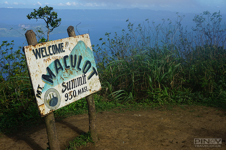 Welcome signage at the summit