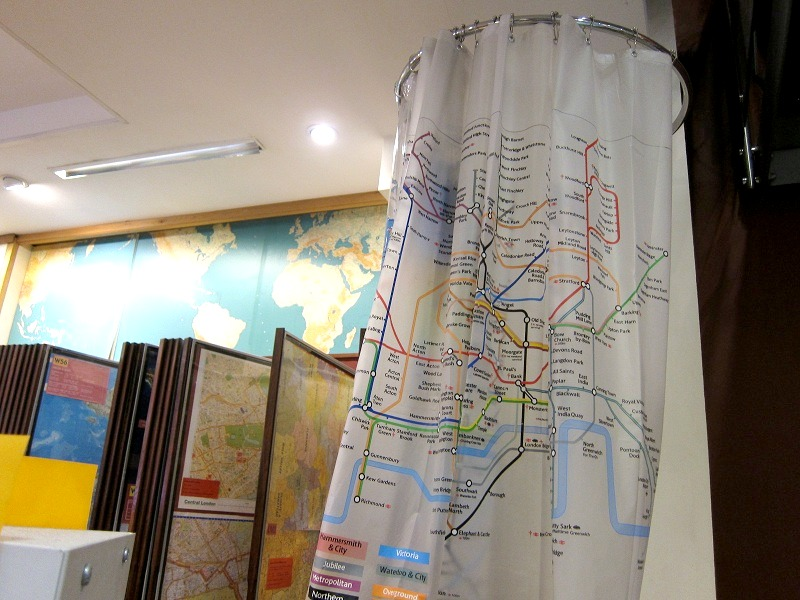 London underground shower curtain home design for Household design 135 curtain road