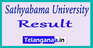 Sathyabama University Results 2017 UG PG Exam Results