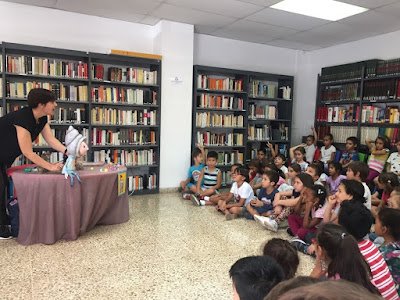 Conte a la biblioteca, 1r Primària 2018