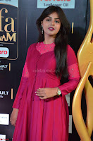 Monal Gajjar in Maroon Gown Stunning Cute Beauty at IIFA Utsavam Awards 2017 003.JPG