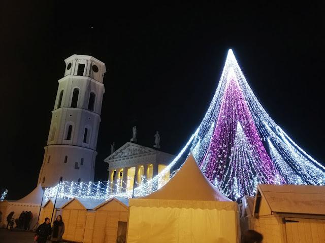 Vilnius - Weihnachtsmarkt an der Kathedrale