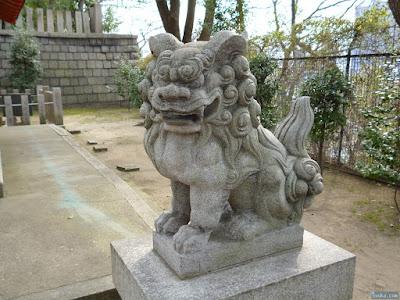 生國魂神社鴫野神社狛犬