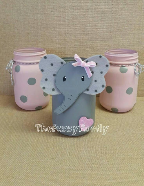 Baby Shower Decorations Elephant Girl
