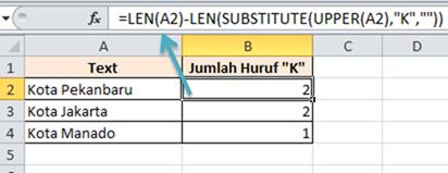Contoh Soal Excel Menghitung Huruf Pada Sel