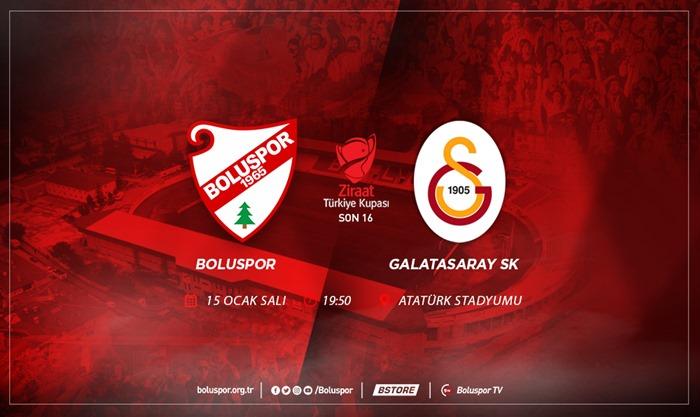 Boluspor Bu Akşam Galatasaray'ı Ağırlıyor
