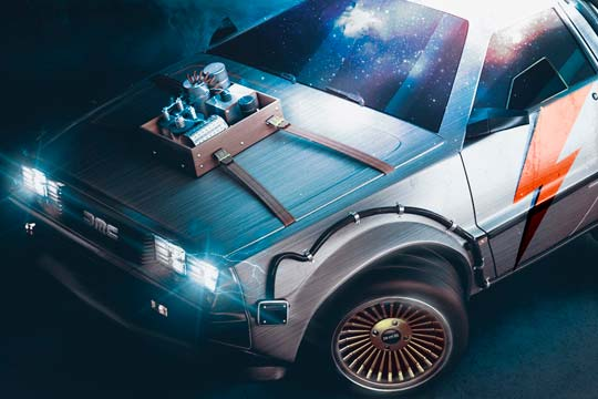 Modelado 3D, Cartoon Delorean de Eduardo Triviño Vargas