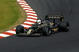 De Angelis in action for Lotus in 1985