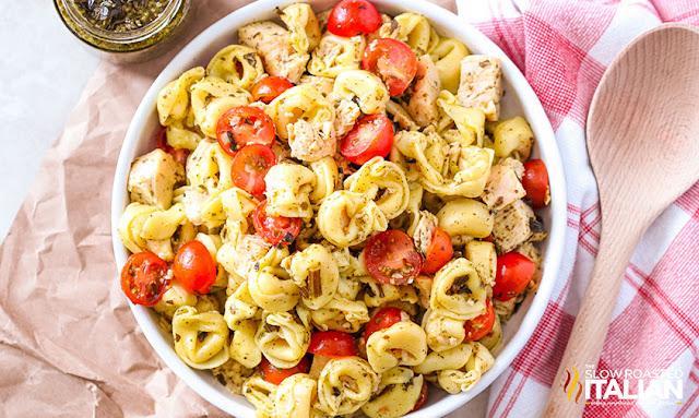 Tortellini Recipe in a serving bowl