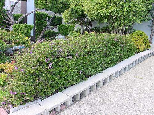 Edging design ideas: garden edging blocks Images