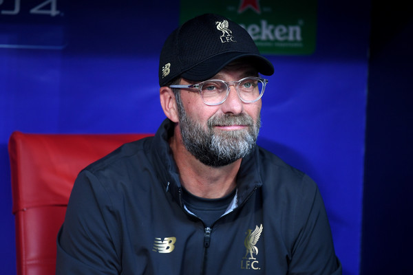 Jürgen Klopp, Manager of Liverpool looks on prior to the UEFA Champions League Final between Tottenham Hotspur and Liverpool at Estadio Wanda Metropolitano on June 01, 2019 in Madrid, Spain