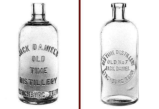 Jack Daniel's bottles 1880 - 1890