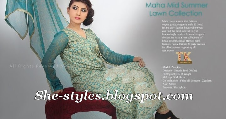 83a24aef7 Maha Lawn MidSummer Eid Collection 2012 by Sarosh Syed | She-Styles |  Pakistani Designer Dresses - Fashion Weeks - Lawn Collection
