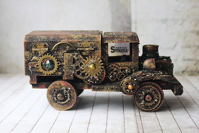 @marinasyskova #7dotsstudio #alteredart #toy #mixedmedia #scrap #scrapbooking