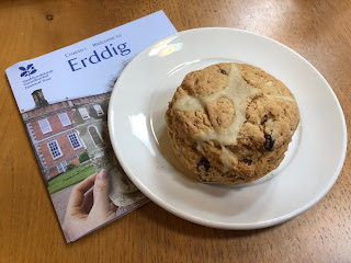 Erddig hot cross scone
