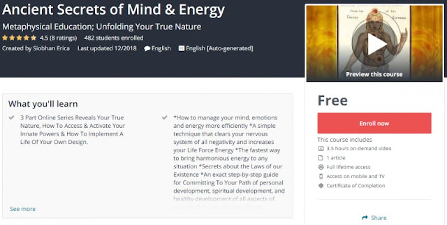 [100% Free] Ancient Secrets of Mind & Energy