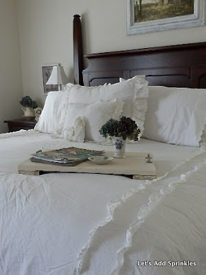 Shabby Chic King Size Pillow Shams : Let s Add Sprinkles: Shabby Chic White Bedding