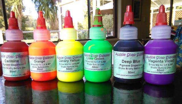 cold process soap colours