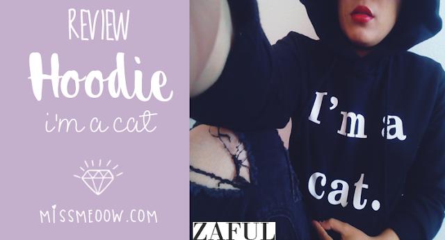 Hoodie: I'm a cat | Zaful