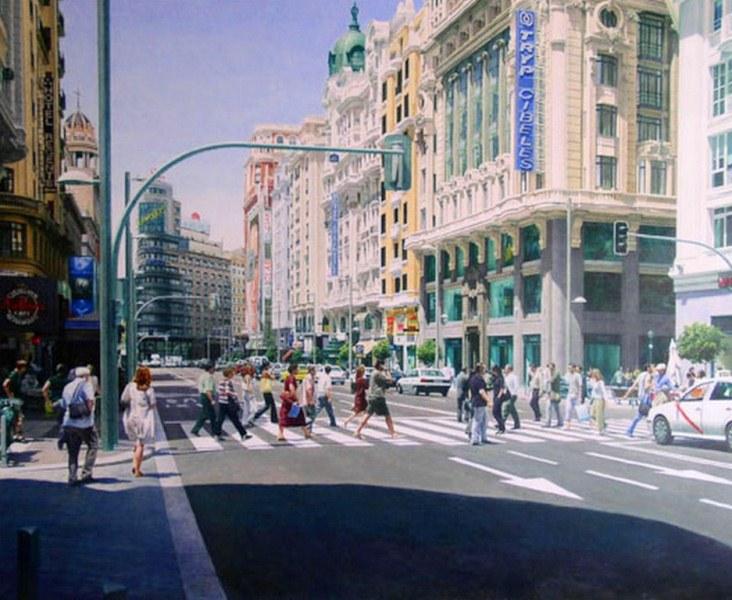 Cuadros Modernos Pinturas y Dibujos : Paisajes urbanos