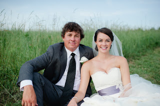 Jason with his wife Amanda during their wedding ceremony