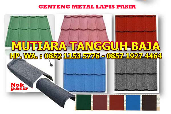 Jual Genteng Metal Berpasir 2x4 Murah Perlembar 2018-2019 Depok