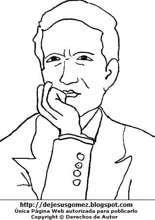 Dibujo de César Vallejo para colorear, pintar e imprimir. Dibujo de César Vallejo hecho por Jesus Gómez