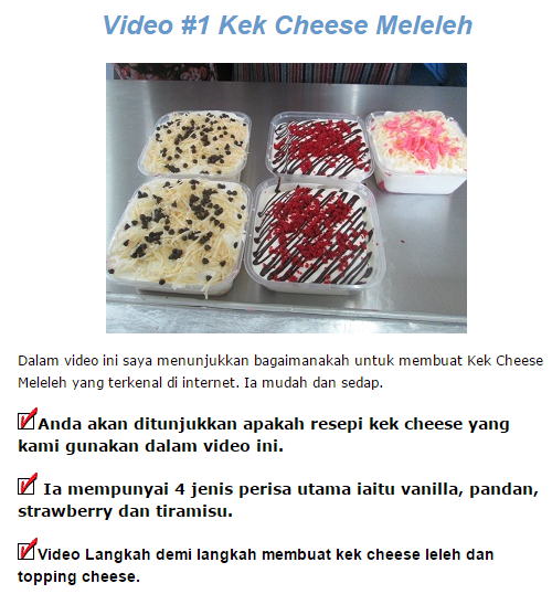 buat cheese kek di rumah
