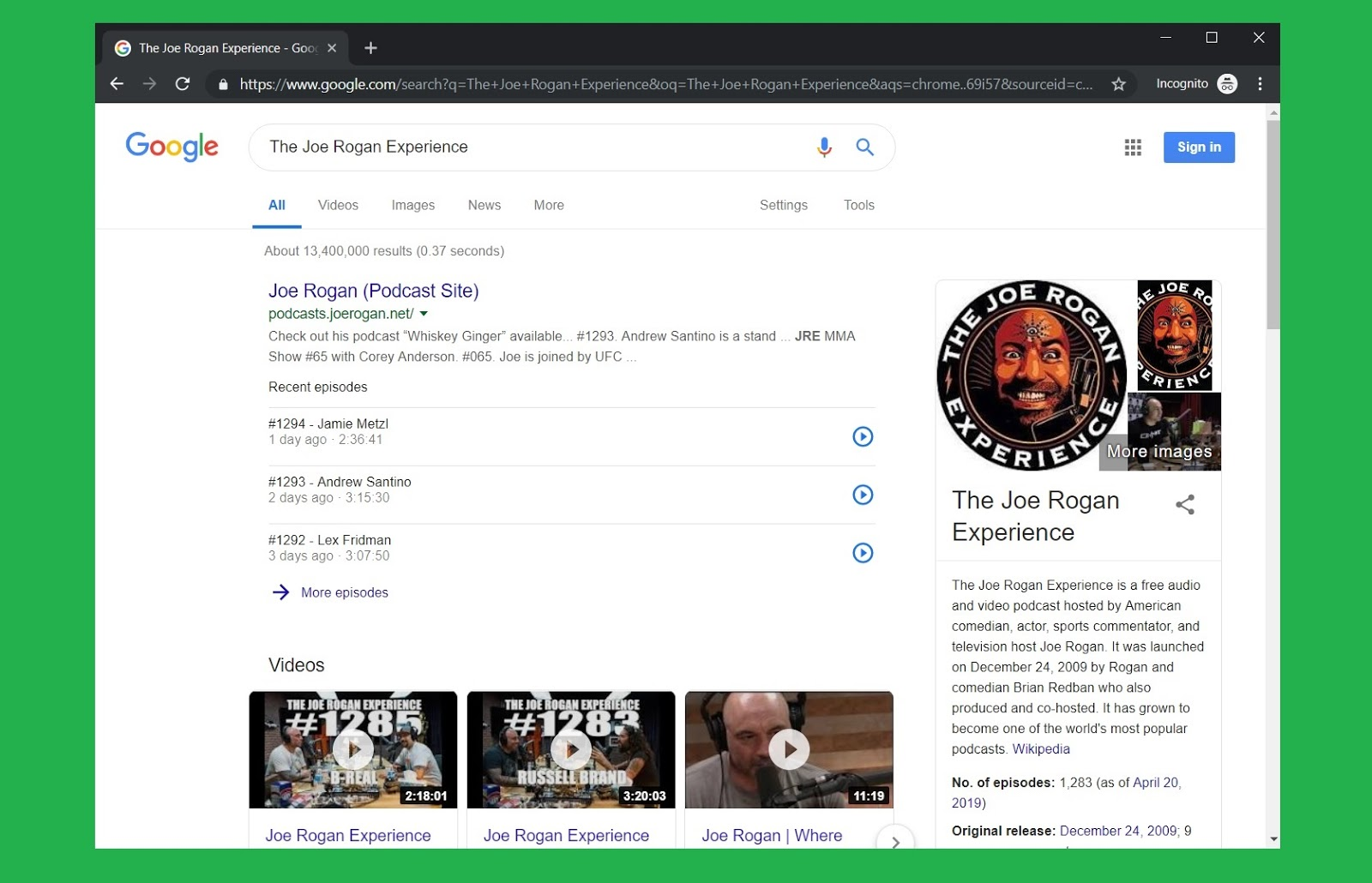 Google's New Podcast Focused Search Results Have Arrived