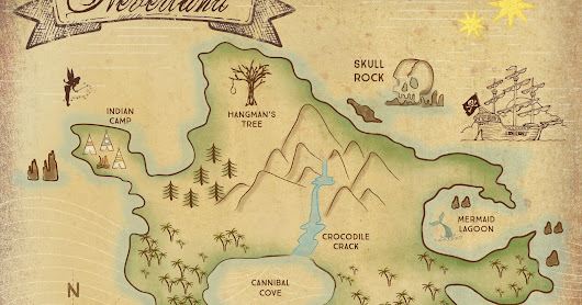 Neverland Map Downloadable Print